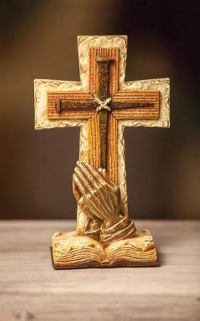 PRAYING HANDS TABLE CROSS in Maple Heights, OH - NOVAK'S