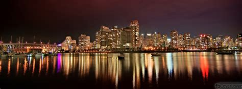 Vancouver BC Night View Facebook Cover - fbCoverLover