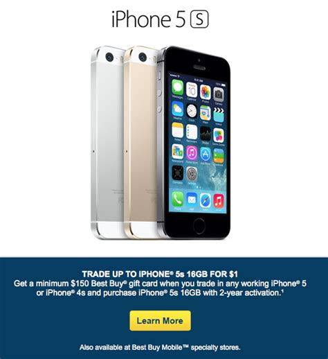 Best Buy Offering Free 16GB iPhone 5s With Trade-In of