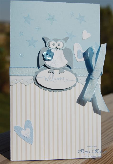 Stampin' with Irina: Welcome Baby Boy Card
