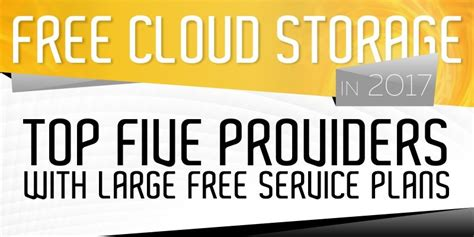 Free Cloud Storage 2018 – Top 5 Providers with up to 100GB
