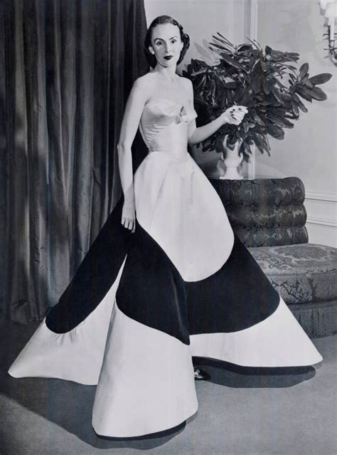 Austine Hearst in Charles James Clover Leaf Gown, ca