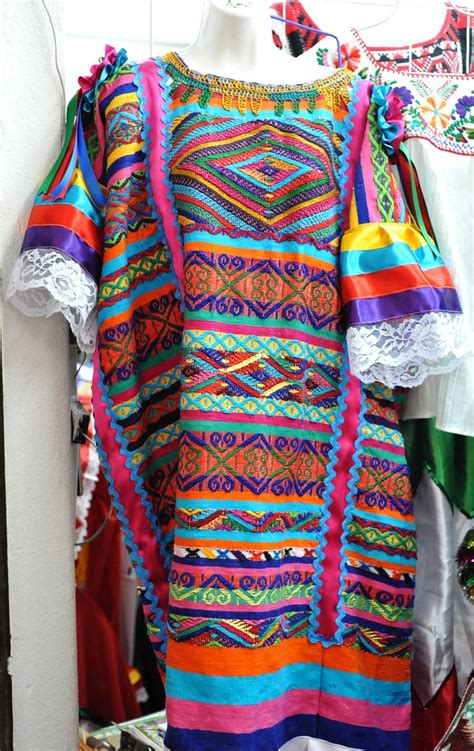 Chinantec Huipil Oaxaca | This colorful huipil was made in