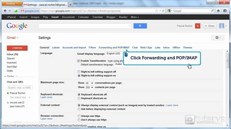 How to configure a Gmail account with IMAP access with